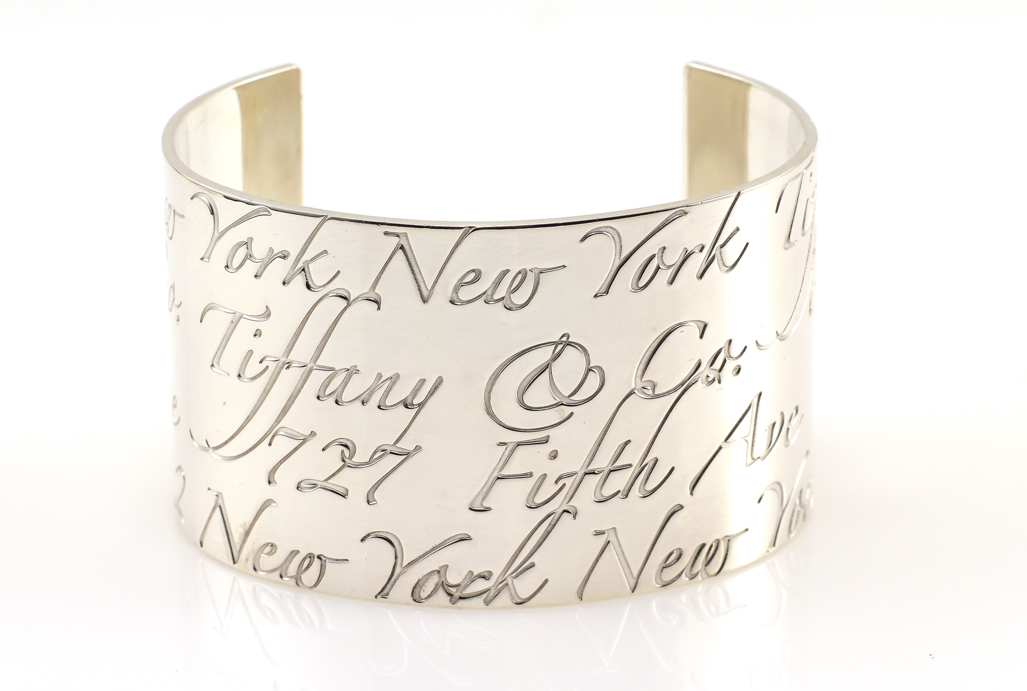 2d3acac888f0e Details about Silver Tiffany & Co. Notes Cuff Sterling Silver