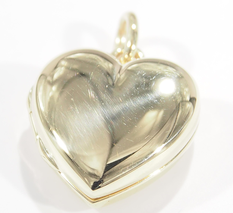 34c9c2e03 14K Tiffany and Co Heart Locket Pendant Yellow Gold | eBay